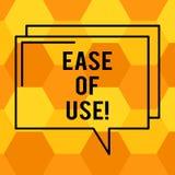 Texto de la escritura que escribe facilidad de empleo Fácil fácil de usar del significado del concepto actuar la tecnología simpl libre illustration