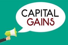 Texto de la escritura que escribe ganancias sobre el capital La acción de las partes de los enlaces del significado del concepto  stock de ilustración