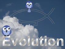 Texto de la evolución Imagen de archivo libre de regalías