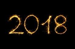Texto de la Feliz Año Nuevo 2018 Imagen de archivo libre de regalías