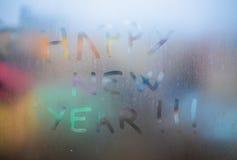 Texto de la Feliz Año Nuevo Foto de archivo