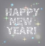 Texto de la Feliz Año Nuevo Fotografía de archivo libre de regalías