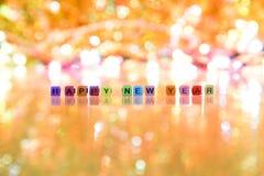 Texto de la Feliz Año Nuevo Imagen de archivo libre de regalías
