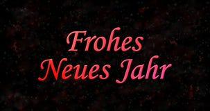 Texto de la Feliz Año Nuevo en alemán Foto de archivo