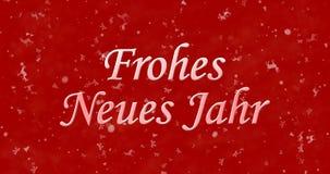 Texto de la Feliz Año Nuevo en alemán Fotografía de archivo