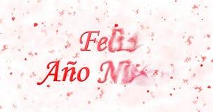 Texto de la Feliz Año Nuevo en español Imagen de archivo libre de regalías