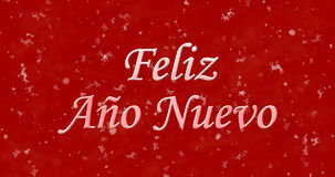 Texto de la Feliz Año Nuevo en español Fotografía de archivo libre de regalías