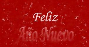 Texto de la Feliz Año Nuevo en español Foto de archivo