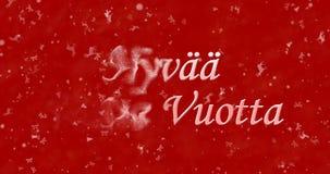 Texto de la Feliz Año Nuevo en finés Fotos de archivo libres de regalías