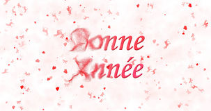 Texto de la Feliz Año Nuevo en francés Fotografía de archivo libre de regalías