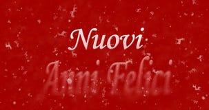 Texto de la Feliz Año Nuevo en italiano Imagen de archivo