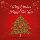Texto de la Feliz Año Nuevo en las etiquetas del multicolor aisladas en el fondo blanco fotos de archivo libres de regalías