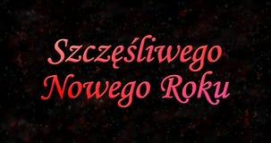 Texto de la Feliz Año Nuevo en polaco Imagen de archivo libre de regalías