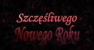 Texto de la Feliz Año Nuevo en polaco Fotos de archivo libres de regalías
