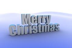 Texto de la Feliz Navidad Fotos de archivo libres de regalías