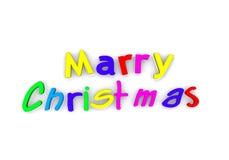 Texto de la Feliz Navidad Foto de archivo libre de regalías