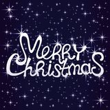Texto de la Feliz Navidad stock de ilustración
