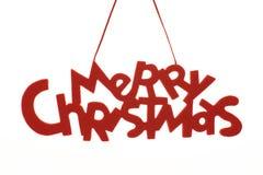 Texto de la Feliz Navidad Imagen de archivo