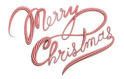 Texto de la Feliz Navidad 3D stock de ilustración