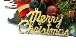 Texto de la Feliz Navidad Fotos de archivo