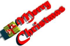 Texto de la Feliz Navidad imágenes de archivo libres de regalías