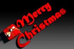 Texto de la Feliz Navidad fotografía de archivo