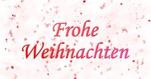 Texto de la Feliz Navidad en alemán Imagen de archivo libre de regalías