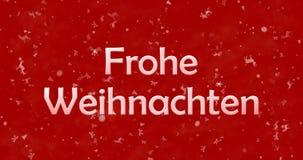 Texto de la Feliz Navidad en alemán Imágenes de archivo libres de regalías