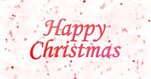Texto de la feliz Navidad en el fondo blanco Fotos de archivo