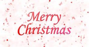 Texto de la Feliz Navidad en el fondo blanco Imágenes de archivo libres de regalías