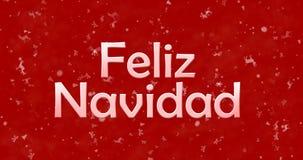 Texto de la Feliz Navidad en español Foto de archivo libre de regalías
