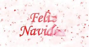 Texto de la Feliz Navidad en español Fotos de archivo libres de regalías