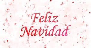 Texto de la Feliz Navidad en español Feliz Navidad en el backgro blanco Fotos de archivo libres de regalías