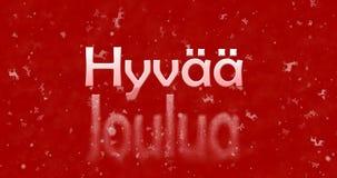 Texto de la Feliz Navidad en finés Fotos de archivo libres de regalías