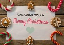 texto de la Feliz Navidad en fondo de la Navidad imágenes de archivo libres de regalías
