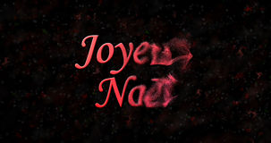 Texto de la Feliz Navidad en francés Fotos de archivo libres de regalías
