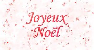 Texto de la Feliz Navidad en francés Foto de archivo libre de regalías