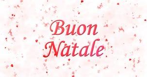 Texto de la Feliz Navidad en italiano Fotografía de archivo