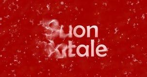 Texto de la Feliz Navidad en italiano Imagen de archivo libre de regalías