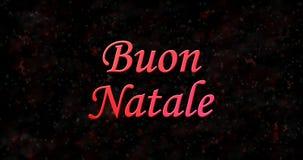 Texto de la Feliz Navidad en italiano Foto de archivo libre de regalías