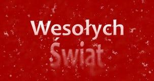 Texto de la Feliz Navidad en polaco Imágenes de archivo libres de regalías