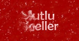 Texto de la Feliz Navidad en turco Fotos de archivo libres de regalías