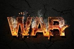 Texto de la guerra Fotos de archivo libres de regalías