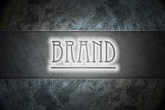 Texto de la marca en fondo Imágenes de archivo libres de regalías