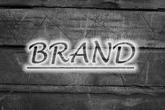 Texto de la marca en fondo Foto de archivo