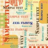 Texto de la muestra Imágenes de archivo libres de regalías