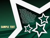 Texto de la muestra de la estrella Foto de archivo