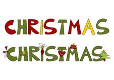 Texto de la Navidad Imágenes de archivo libres de regalías
