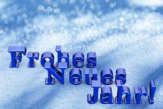 Texto de la Navidad del Año Nuevo en lengua alemana Foto de archivo libre de regalías