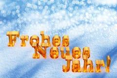 Texto de la Navidad del Año Nuevo en lengua alemana Imágenes de archivo libres de regalías